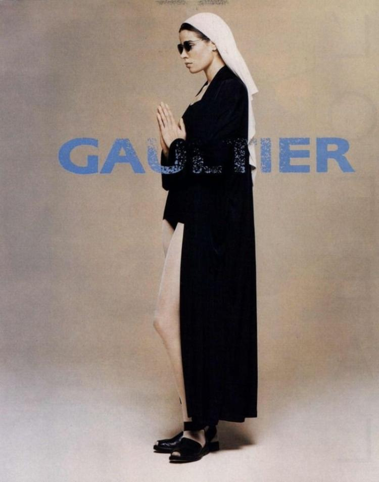 Advertising of the collection of Jean Paul Gaultier inspired by nuns - Reproduction - Reproduction