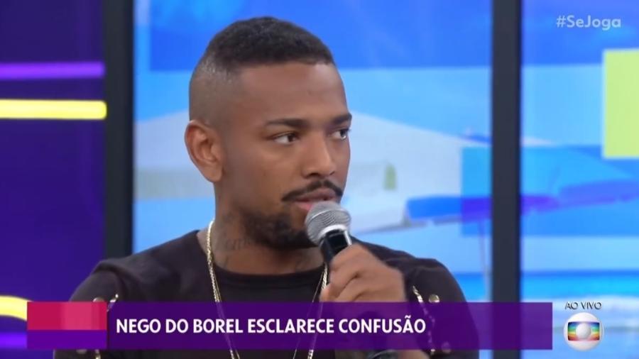 """Nego do Borel fala no """"Se Joga"""" sobre confusão após não aparecer em festa de 15 anos para qual foi contratado - Reprodução/TV Globo"""