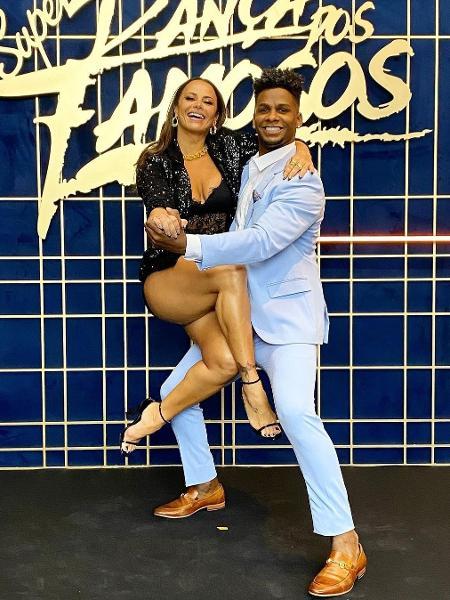 Viviane Araújo with ex-partner Adeilton Ribeiro at 'Super Dança dos Famosos' - Reproduction/Instagram - Reproduction/Instagram