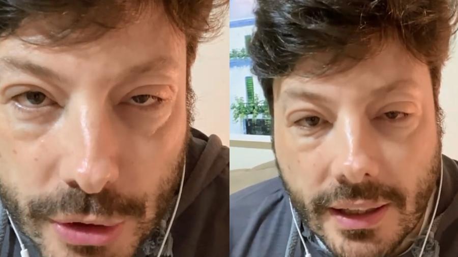 Danilo Gentili com rosto deformado - Reprodução/Instagram@danilogentili