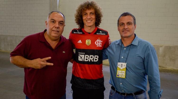 David Luiz has already worn red and black - Marcelo Cortes/Flamengo - Marcelo Cortes/Flamengo