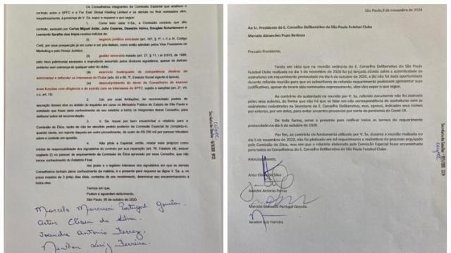 Assinaturas de documentos causaram polêmica no Conselho Deliberativo do São Paulo - Divulgação - Divulgação