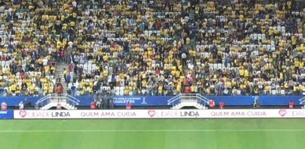 jogo do brasil contra o paraguai tem propaganda da prefeitura de joao doria  na arena corinthians 83766b62782e9