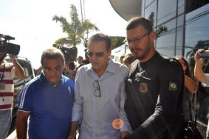 O ex-ministro Henrique Eduardo Alves quando foi preso, em junho