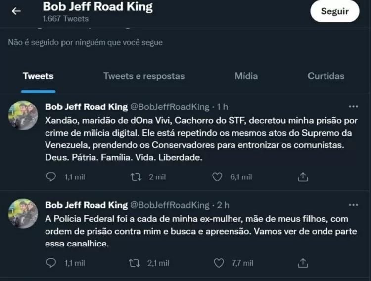 Antes de ser preso, Roberto Jefferson xingou o ministro do STF no Twitter - Reprodução - Reprodução