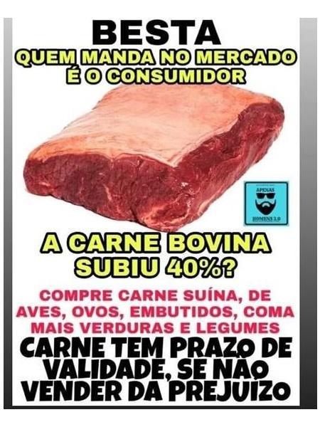 internautas defendem boicote a carne para baixar preco 1575475111571 v2 450x600 - AUMENTOS DOS PREÇOS: Analistas afirmam que boicote à carne vermelha não reduziria o valor