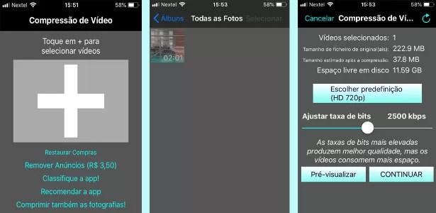 Compressão de vídeos iOS - Reprodução - Reprodução