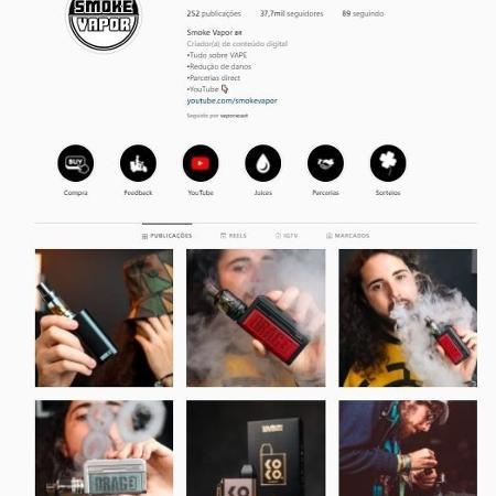"""O """"vaper"""" Sardine, which commands SmokeVapor - Reproduction/Instagram - Reproduction/Instagram"""