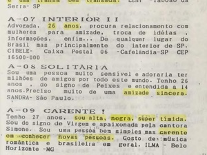 Advertisements published by Femme magazine, in the collection of the Brazilian Lesbian Archive - Brazilian Lesbian Archive - Brazilian Lesbian Archive