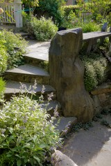 Eric Contey Stonework - Whitten stairs and bench