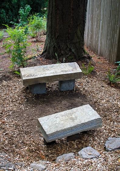 Eric Contey Stonework: Two gathering benches