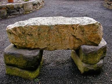 Eric Contey Stonework: DeGarmo bench detail