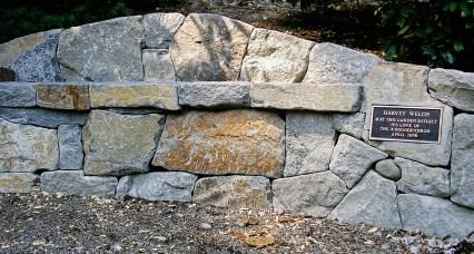 Eric Contey Stonework - Rhododendron Gardens bench