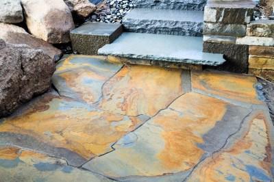 Eric Contey Stonework - Masterson stair landing patio