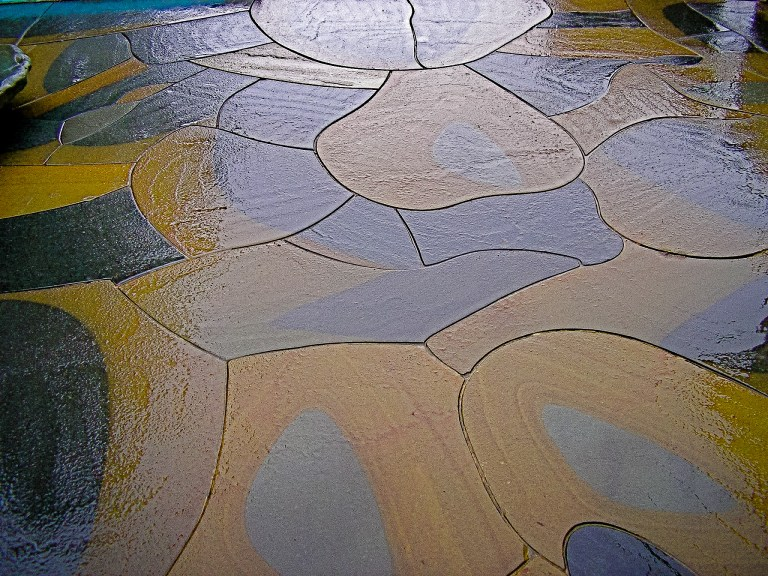 Eric Contey Stonework - intricate fit patio detail