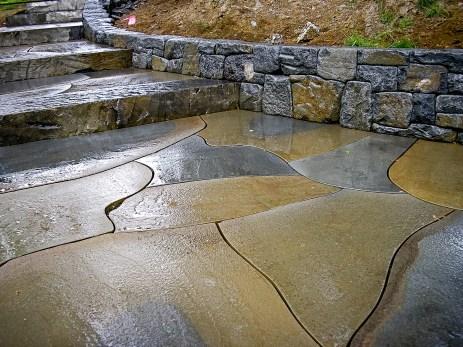 Eric Contey Stonework - Sauvie Island landing and entry stairs