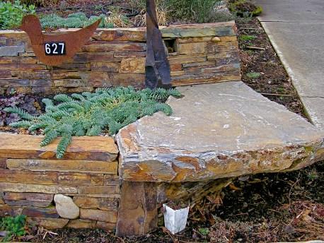 Eric Contey Stonework: wall and corner bench