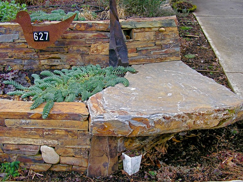 Eric Contey Stonework: wall and corner bench