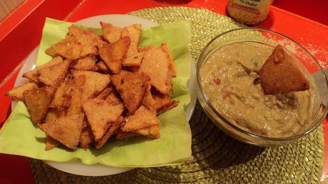 Guacamole con nachos