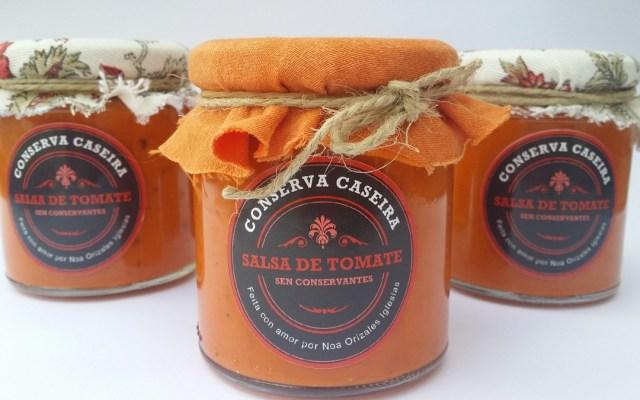 Salsa caseira de tomate fritido