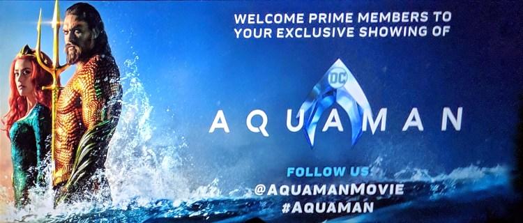 Aquaman Premiere Banner for Prime Members