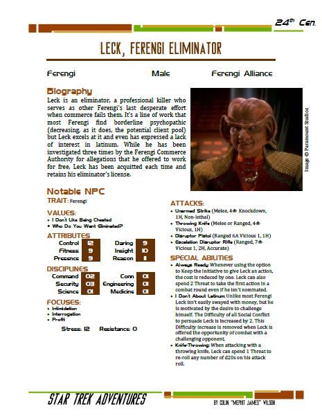 Leck - Ferengi Eliminator - Preview