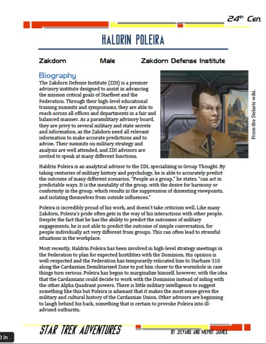 Haldrin Poleira - Zakdorn Defense Institute - Preview
