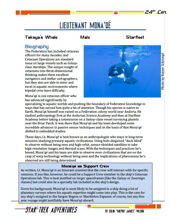 Mona'qé - Aquatic Anthropologist - Preview