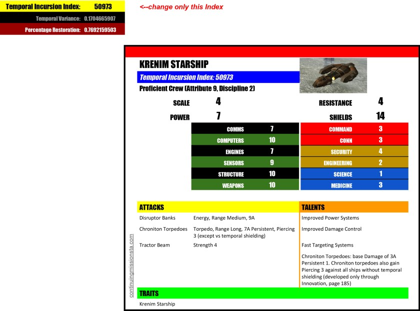STA Krenim Starship Generator