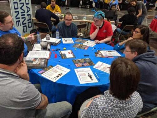 Gamers playing Star Trek Adventures
