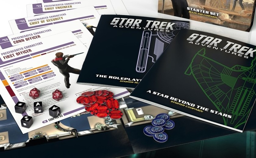 Star Trek adventures dice, guides, and character sheets