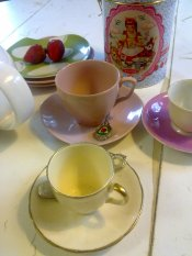 Vintage tea sets for hire
