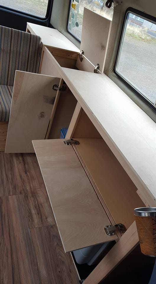 Vanagon cabinets open