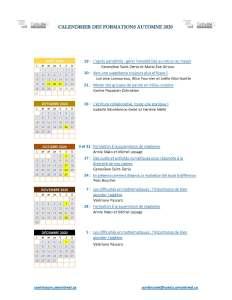 ContinuUM calendrier A2020