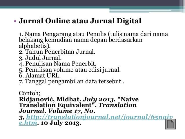 Contoh footnote catatan kaki dari jurnal digital