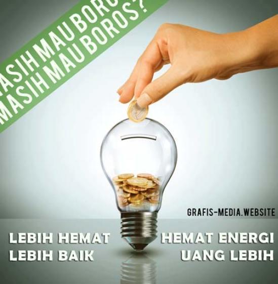 poster hemat energi listrik di rumah