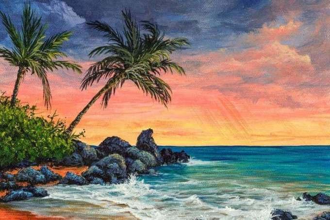 Contoh Gambar pemandangan laut