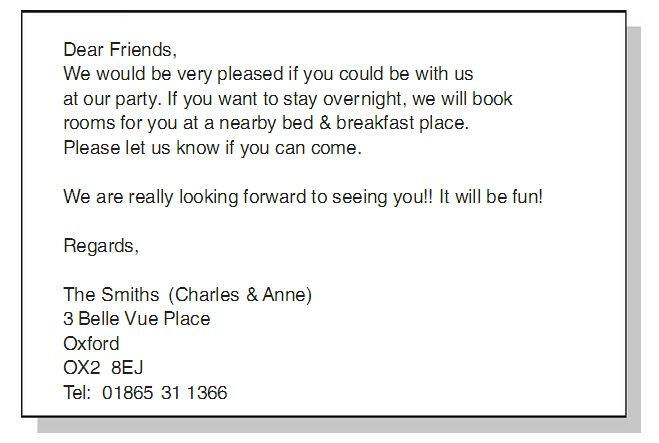 Contoh surat pribadi bahasa inggris tentang ulang tahun
