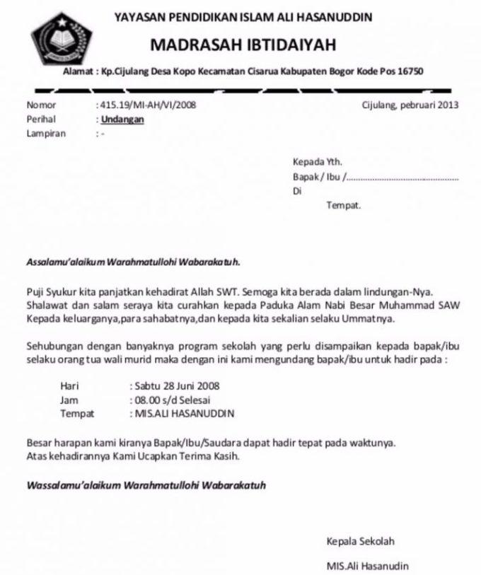 7 Contoh Surat Undangan Rapat Resmi Rt Perusahaan Organisasi