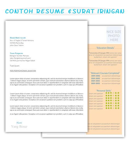 Set Lengkap Contoh Resume Dan Surat Iringan - Contoh Resume