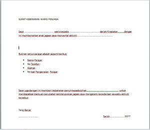 Contoh Surat Kebenaran - Contoh Resume