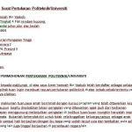 Contoh Surat Rayuan Pertukaran Politeknik