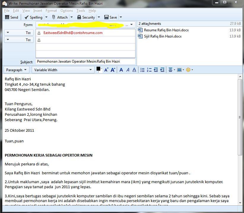 Contoh Contoh Resume Dalam Bahasa Malaysia