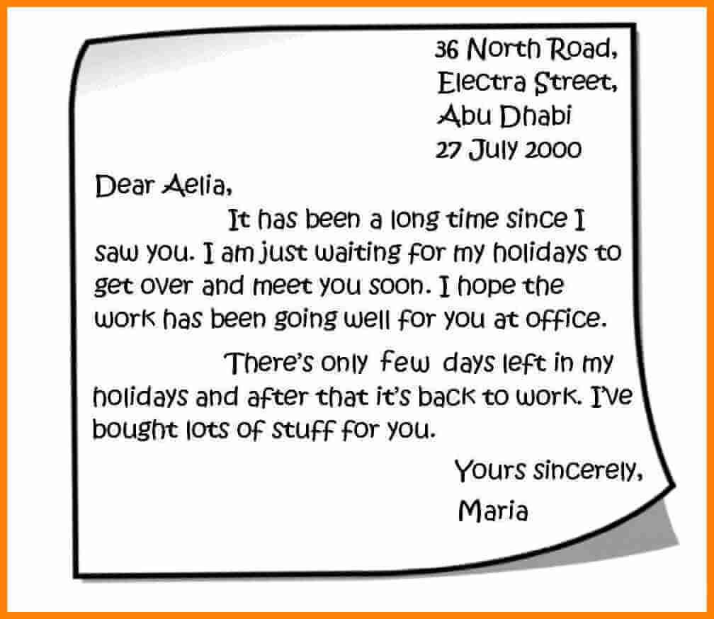 Contoh Surat Pribadi Untuk Sahabat Teman Dan Keluarga Contoh Surat