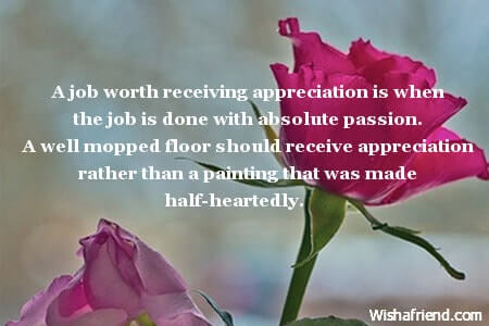 Words Of Appreciation For Good Work Done