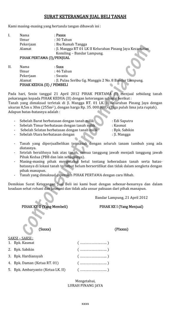 Contoh Surat Pernyataan Ahli Waris - Contoh AJa
