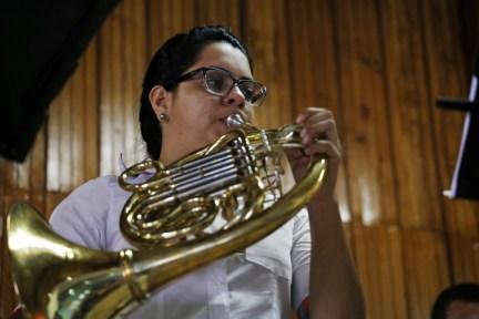 Sperimental Live Music durante su presentación en Lepaera, Lempira.