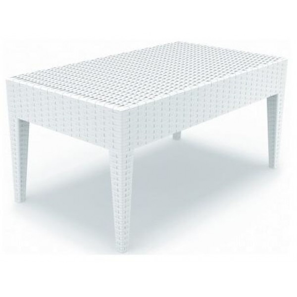 miami resin coffee table white