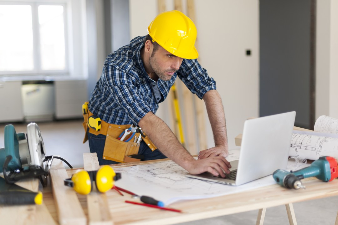 Contractor Studying for his Contractor license