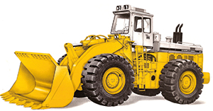 One of the last Hough machines to roll off the production lines at Libertyville, Illinois before Dresser took over the range, was the model 570 PayLoader. This was a big machine with a 440 hp Cummins engine and a 12 cubic yard bucket. It was totally state-of-the-art for 1982.